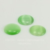 Кабошон круглый Кошачий глаз зеленый, 16 мм