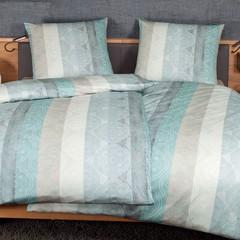 Постельное белье 1.5 спальное Janine Messina 4720 aquagrau-sand
