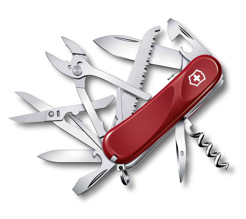 Нож Victorinox Evolution S52, 85 мм, 20 функ, красный