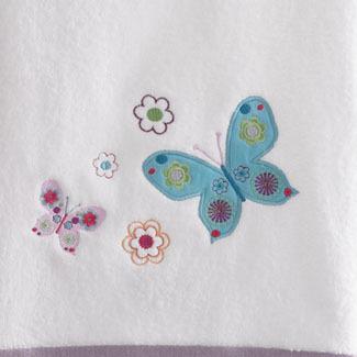 Полотенце детское 40х65 Kassatex Butterflies белое