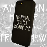Чехол для iPhone 7+/7/6s+/6s/6+/6/5/5s/5с/4/4s  NORMAL PEOPLE SCARE ME