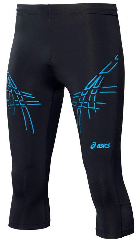 Мужские тайтсы Asics Tiger Knee Tight 3/4 (121334 8070) с синими полосами