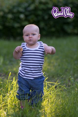 Детская маечка Легкость бытия серая полоска