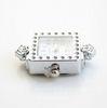 "Основа для часов ""Розы"" (цвет - античное серебро) 31х22 мм"