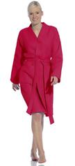 Элитный халат вафельный Rom cranberry от Vossen