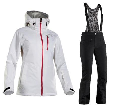 Костюм горнолыжный 8848 Altitude Theia/Poppy женский White/Black