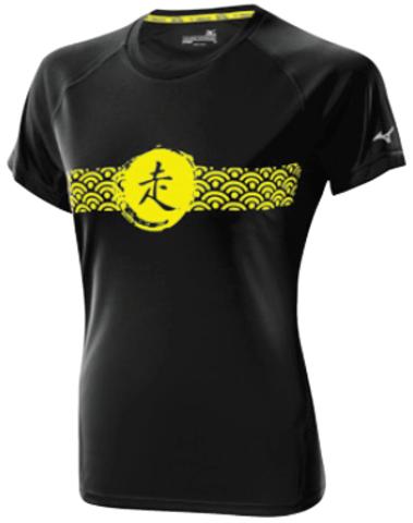 Футболка беговая женская Mizuno DryLite Wave Tee black