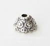 "Шапочка - конус для бусины ""Бали"" 11х7 мм (цвет - античное серебро), 10 штук"