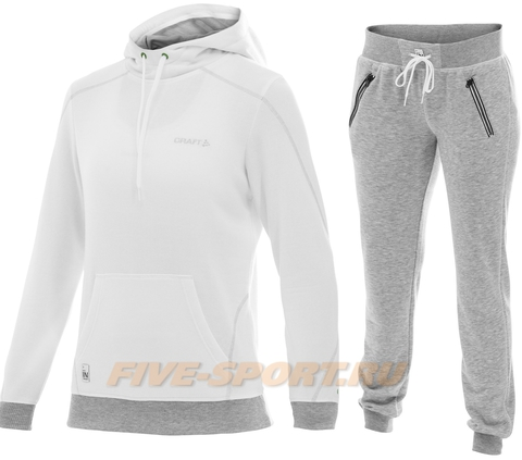 Костюм спортивный женский Craft In The Zone hood white для бега