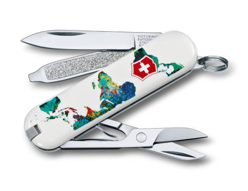 "Нож-брелок Victorinox Classic LE 2013, 58 мм, 7 функ, ""The World - My Home""  (0.6223.L1303)"