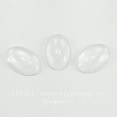Кабошон овальный прозрачное стекло, 18х13 мм
