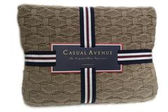Элитный плед Ponte Vecchio коричневый от Casual Avenue