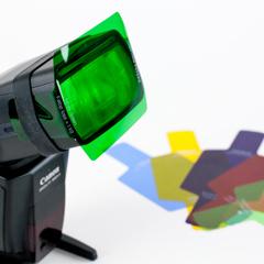 Цветные гелевые фильтры для вспышки