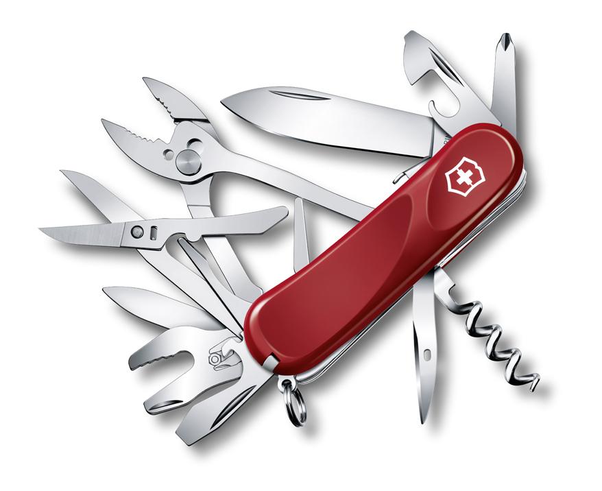 Нож Victorinox Evolution S557, 85 мм, 21 функ, красный