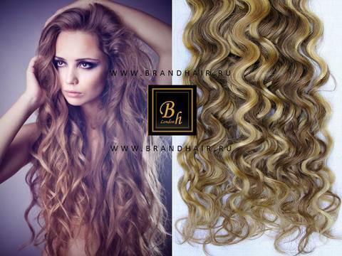 Вьющиеся волосы оттенок #11-24,Мелированные волосы 52 CM