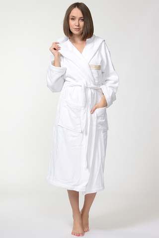 Элитный махровый халат Golf белый от Trussardi