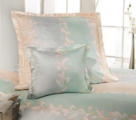 Элитный пододеяльник Assam бледно-зеленый от Elegante