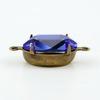 Сеттинг - основа - коннектор (1-1) для страза 14х10 мм (оксид латуни)
