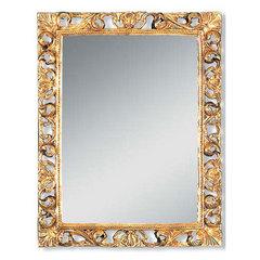 Зеркало прямоугольное Migliore  ML.COM-70.708.DO золото сусальное  h74xL58xP4см.