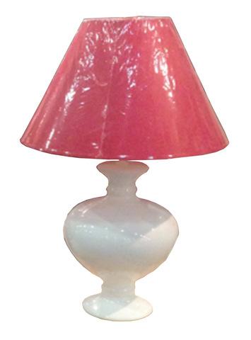 Элитная лампа настольная Monsan белая с красным абажуром от Antonio Rosa