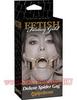 Расширитель для рта БДСМ GOLD DELUXE SPIDER GAG (4,5 см.)
