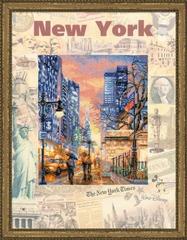 Набор для вышивания Riolis Города мира. Нью Йорк.