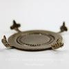 """Сеттинг - основа """"Черепашка"""" для камеи или кабошона 30 мм (оксид латуни) ()"""