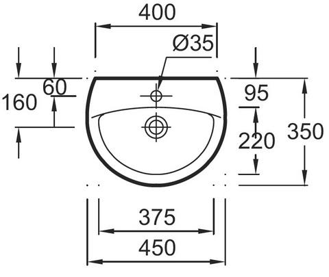 Jacob Delafon PATIO Подвесная раковина (E4152G)