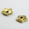 Шапочка для бусины (цвет - античное золото) 11х2 мм, 10 штук