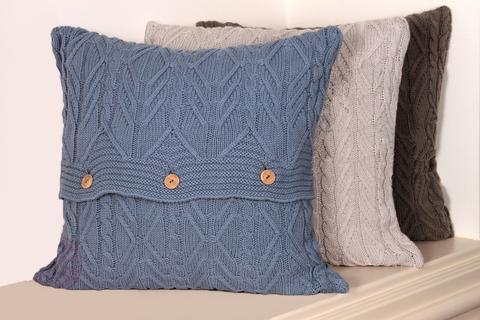 Элитная наволочка декоративная Imperio 46 синяя от Luxberry