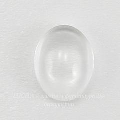 Кабошон овальный прозрачное стекло, 10х8 мм