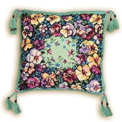 Набор для вышивания Riolis Подушка Анютки