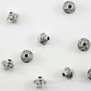 Бусина металлическая - биконус 7х6 мм (цвет - античное серебро), 10 штук