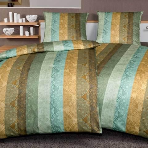 Постельное белье 2 спальное Janine Messina 4720 irisgrun-honiggold