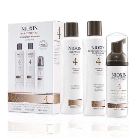 Nioxin Система 4 Набор из 3 продуктов шампунь кондиционер маска купить online