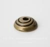 """Шапочка для бусины """"Спираль"""" (цвет - античная бронза) 11х3 мм, 10 штук"""