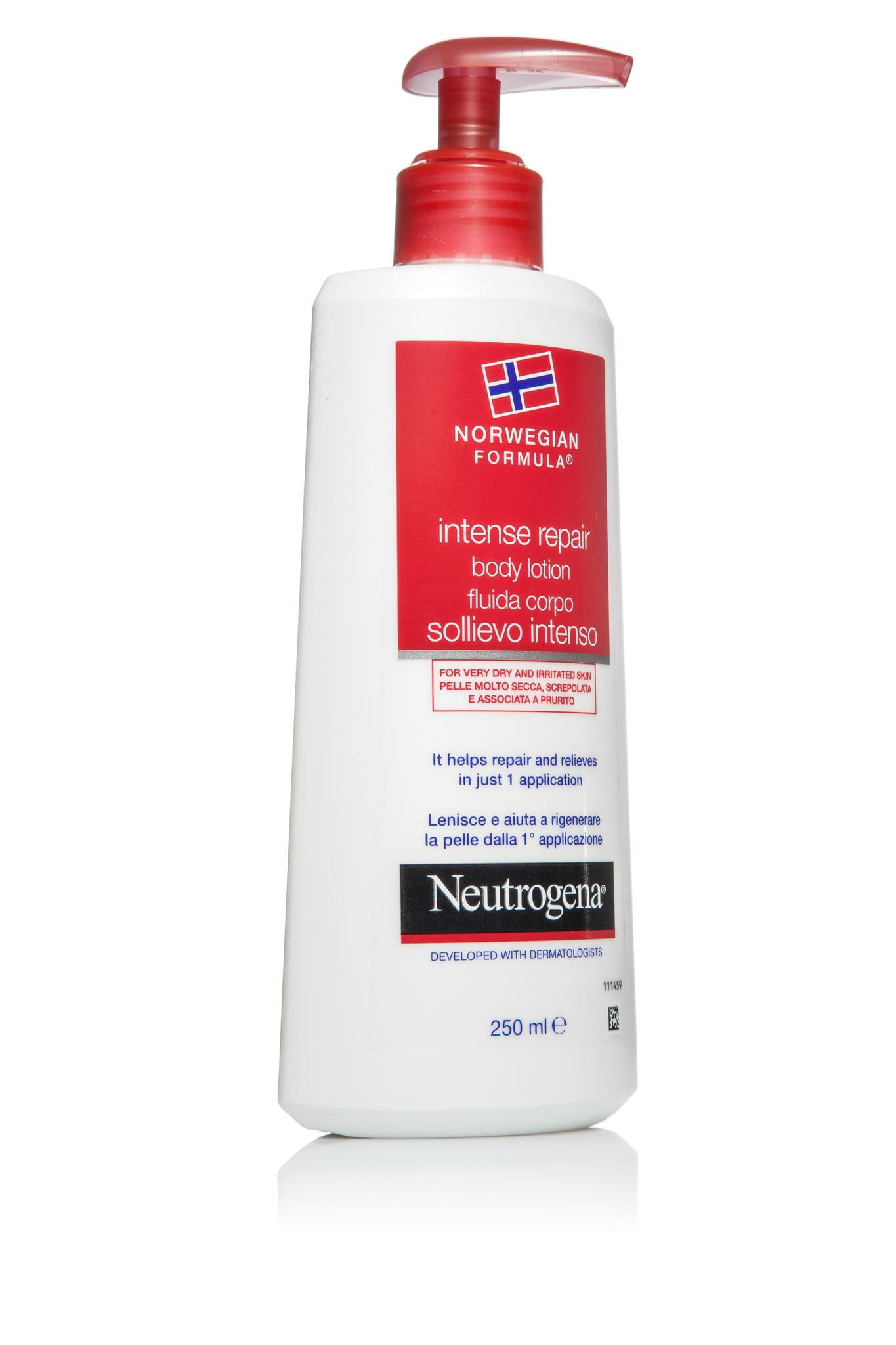 Neutrogena молочко для тела интенсивное восстановление 250 мл.