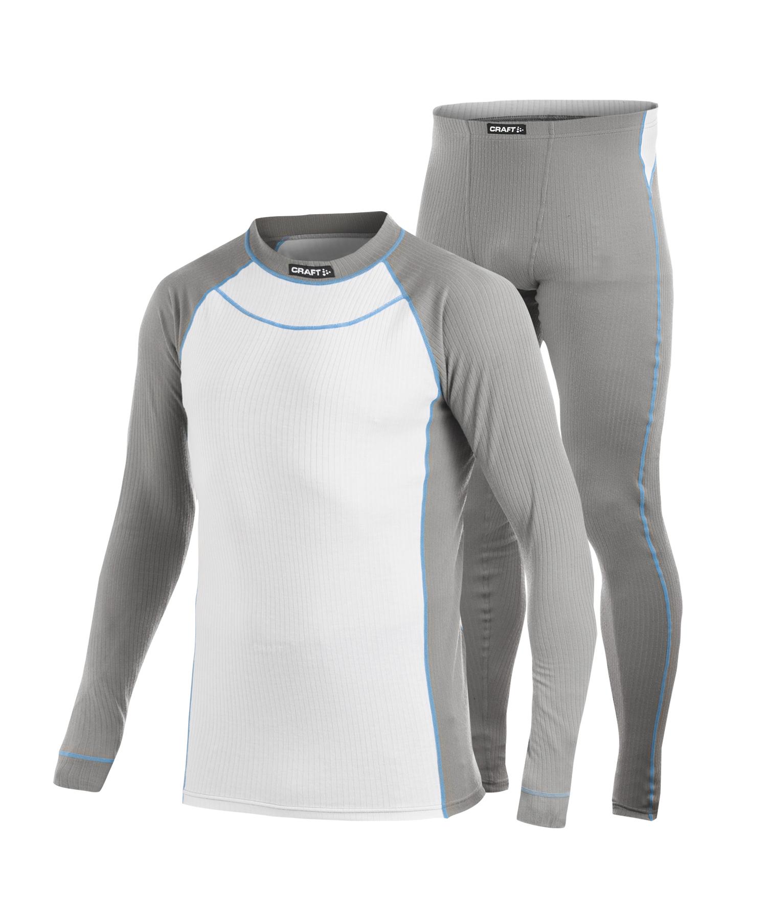 Комплект термобелья Craft Active Multi Color мужской серый