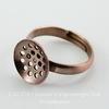 Основа для кольца с площадкой 12 мм  (цвет - античная медь)