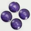 Кабошон стеклянный фиолетовый 18х5 мм ()