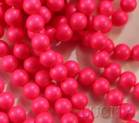 5810 Хрустальный жемчуг Сваровски Crystal Neon Pink круглый 6 мм, 5 штук