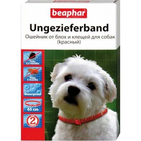 Беафар Ошейник от блох д/собак Diaz Красный 1*6*96