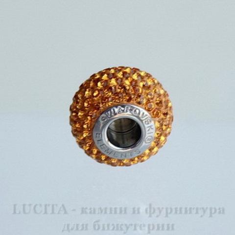 80101 Бусина Сваровски BeCharmed Pave Topaz 14х9 мм ()