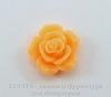 """Кабошон акриловый """"Роза"""", цвет - оранжевый, 16 мм"""