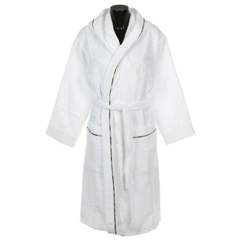 Элитный халат махровый Basic с капюшоном белый от Roberto Cavalli