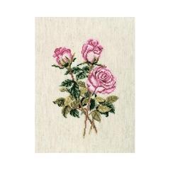 Набор для вышивания Розы на льняной ткани