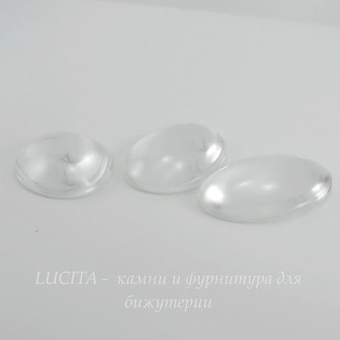 Кабошон овальный прозрачное стекло, 40х30 мм ()