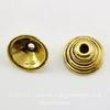 """Шапочка для бусины """"Пирамидка"""" (цвет - античное золото) 10х4 мм, 10 штук"""