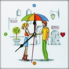 Набор для вышивания Встреча под зонтом