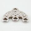 "Коннектор ""Цветочки"" (1-3) 16х15 мм (цвет - античное серебро)"
